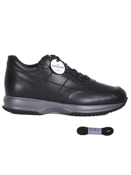 Hogan Hombre Hxm00n0j5911pop999 Negro Cuero Zapatillas: Amazon.es: Zapatos y complementos