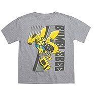 Fashion Boys Transformers Bumblebee Graphic Shirt