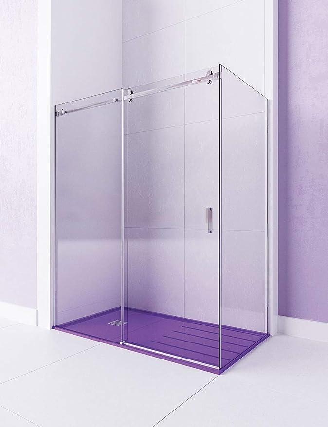 Modelo CANDIL -Mampara de ducha angular de 2 hojas fijas y 1 puerta corredera. - ACERO INOXIDABLE - Cristal 6 mm con ANTICAL INCLUIDO: Amazon.es: Bricolaje y herramientas