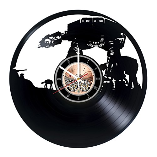 AT-AT Walker Star Wars Vinyl Record Wall Clock - Living room wall decor - Gift ideas for boys and girls - Movie Unique Art Design by choma