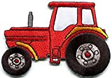 Tractor crawler plow farm truck mint green embroidered applique iron-on patch new S-1351