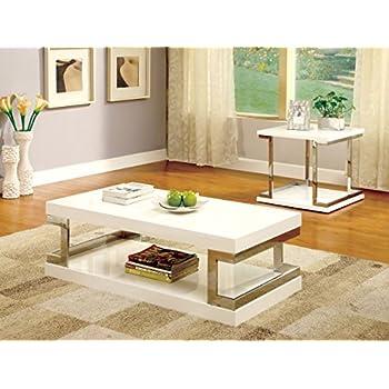 Furniture of America Adina Modern Coffee Table, White