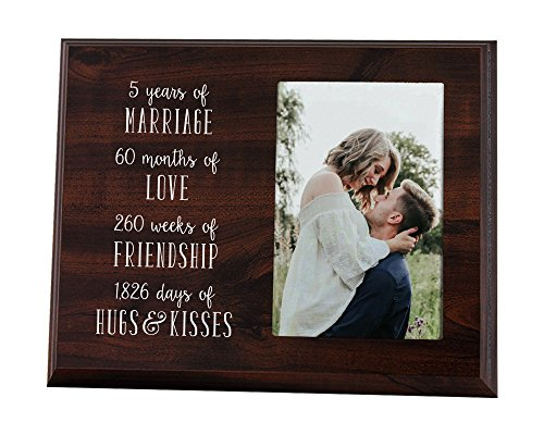 Elegant Signs 5 Year for Couple Wood Picture Frame