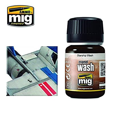 Ammo of Mig Jimenez Starship Wash Enamel Type Wash for Modelling 35ml #1009: Toys & Games