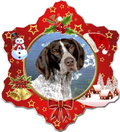- German Shorthair Pointer Porcelain Holiday Ornament