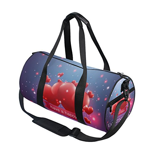 U LIFE Happy Valentines Day February 14Th Love Heart Sports Gym Shoulder Handy Duffel Bags for Women Men Kids Boys Girls by ALAZA (Image #2)