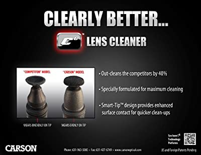 Carson C6 Series Lens Cleaners with Nano Particle Cleaning Formula
