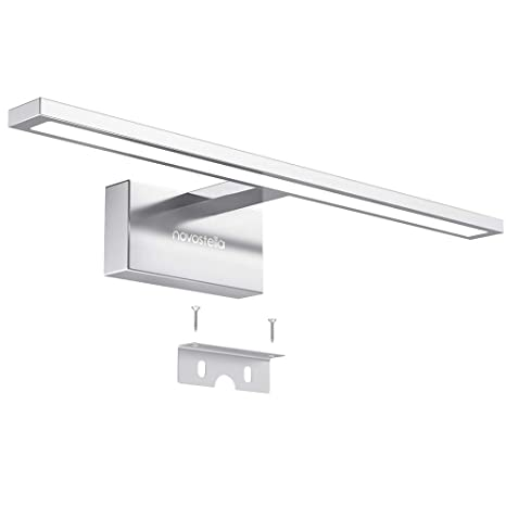 Novostella 10W Aplique Espejo Baño LED Interior, 800LM Blanco Frío ...