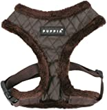 Puppia Authentic Diamond Harness A, Large, Brown, My Pet Supplies
