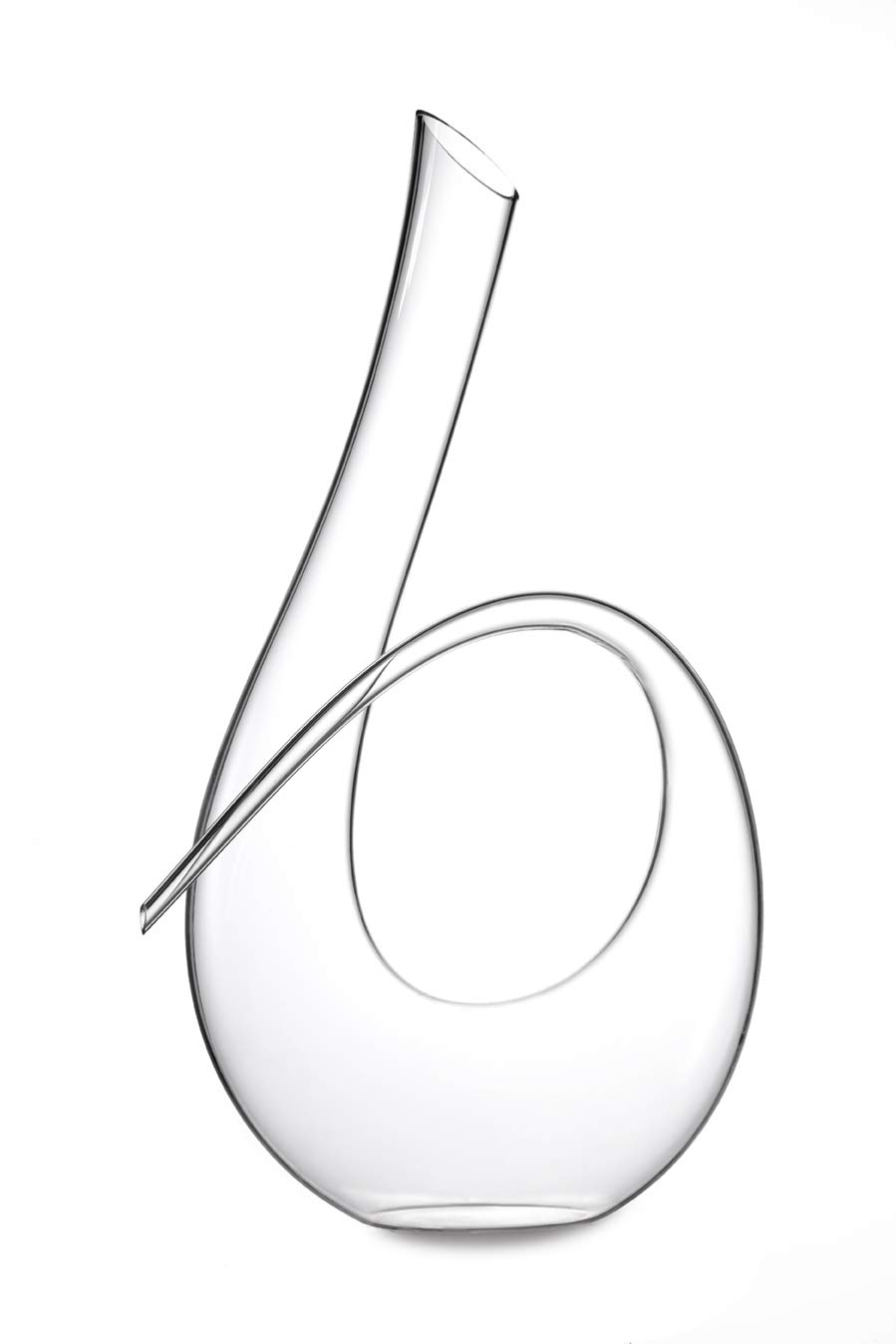 Twisted Horn Wine Decanter Lead Free Crystal Wine Aerating Decanter that Holds 35oz. (1 Liter) (Twisted Horn Decanter)