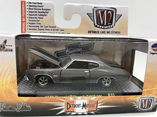 M2 Machines Detroit-Muscle 1970 Chevrolet Chevelle SS 396 1:64 Scale R33 15-57 Green/Black Details Like NO Other! Over 42 Parts ()