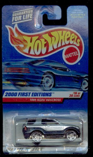 Mattel Hot Wheels 2000 First Edition : 1999 ISUZU VehiCROSS: Blk./Silver 1:64 Scale Die Cast Car #16 OF 36-#076