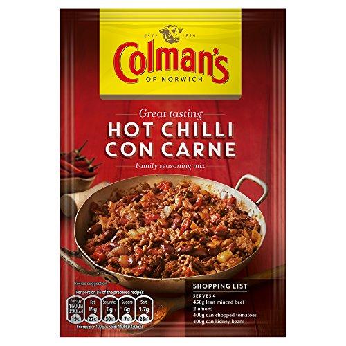 Original Colman's Hot Chilli Con Carne Recipe Mix Imported From The UK England British Recipe Mix Colman's Hot Chilli Con Carne Dry Sauce Mix, 37 g'
