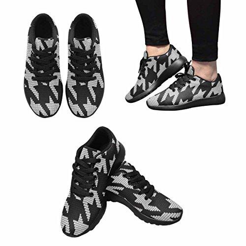 Scarpe Da Trail Running Da Donna Di Interesse Jogging Leggero Sportivo Da Passeggio Sneaker Atletico A Maglia Hounds-tooth Multi 1
