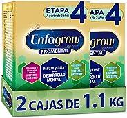 Enfagrow Premium Promental Etapa 4 Alimento para niños de corta edad a base de leche sabor vainilla, paquete 2
