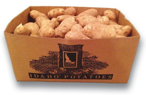 50 Pound Box of Famous Idaho Russet Potatoes/ 80 Potatoes by Wilcox Farms