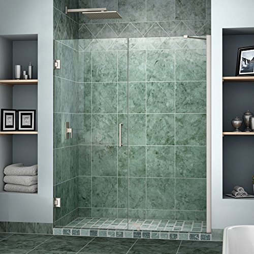 DreamLine Unidoor 58-59 in. Width, Frameless Hinged Shower Door, 3/8
