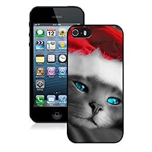 Custom-ized Phone Case Green Eyes Christmas Black Cat Black Phone Case For Iphone 5s,Iphone 5 TPU Case,Apple Iphone 5s