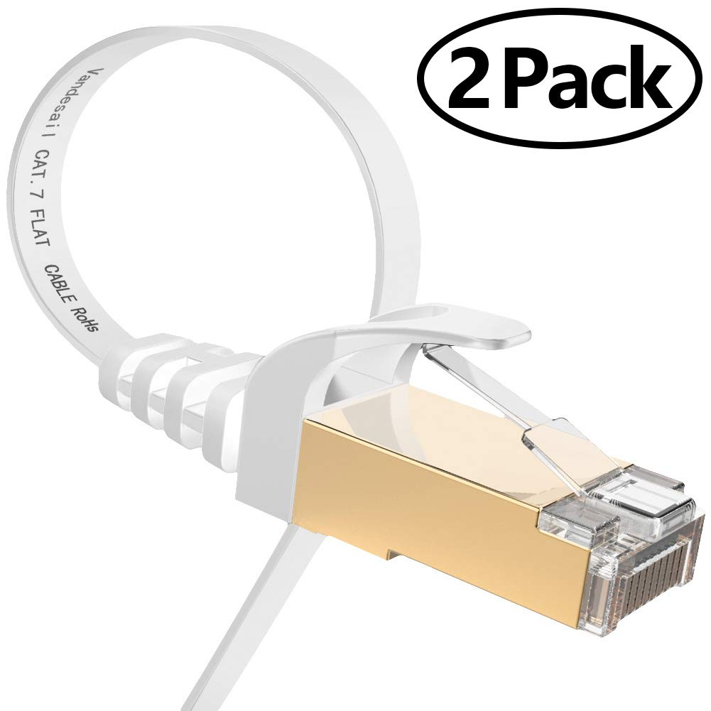 Ethernet/Cable,/Vandesail/CAT7/LAN/Network/Cable/RJ45/High/Speed/Patch/Cord/STP/Gigabit/10//100//1000Mbit//s/Gold/Plated/Lead/for/Switch//Router//Modem//Patch/Pan