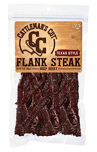 Cattleman's Cut Texas Style Flank Steak Beef Jerky, 9 Ounce (Best Tasting Cut Of Steak)