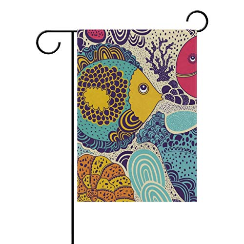 lightly Sweet Home Garden Flag Vertical Double Sided Spring Summer Starfish and Tropical Outdoor Yard Flags Decorative 28x40 Inch ()
