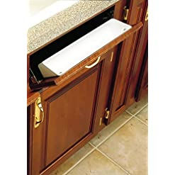 Kitchen Rev-A-Shelf 2 Piece 6581 Sink Front Tray, Standard, White pull-out organizers
