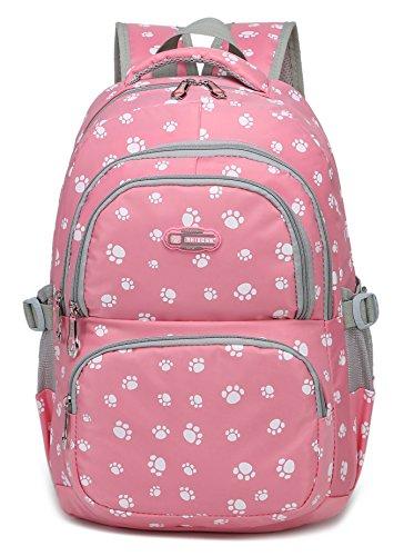 Girls School Bags for Kids Elementary School Backpacks Bookbags for Children (Pink 2) (Best Backpack For First Grader)