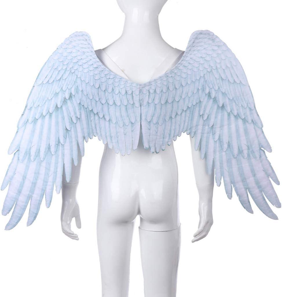 RROVE Disfraz de alas de ángel Niños Adultos Halloween Negro ...