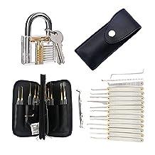 Looching Crystal Padlock Sets Lock Professional Cutaway Practice Padlock Kit