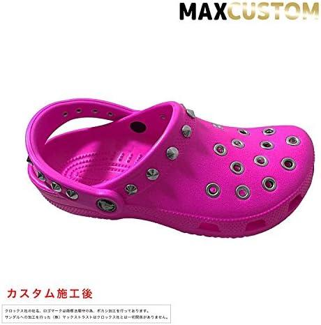 クロックス パンク カスタム クラシック ケイマン ピンク crocs classic custom サンダル