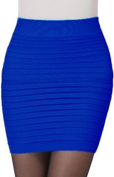Femmes Jupe Courte Femme Jupe Moulante Courte Taille Haute Plissee Package Hanchee Ba Zha Hei Taille Unique Bleu Amazon Fr Vetements Et Accessoires