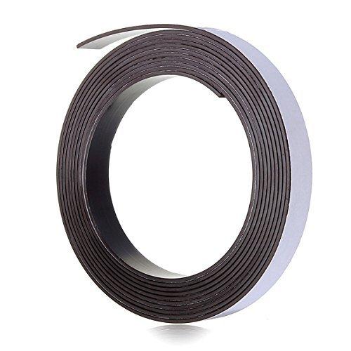 3M auto-adhesivo de la cinta magnética del imán tira de 12,7 mm (1/2 pulgada) de ancho