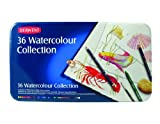 Derwent Colored Pencils, Watercolor, Water Color Pencils, Drawing, Art, Metal Tin, 36 Count (0700305)