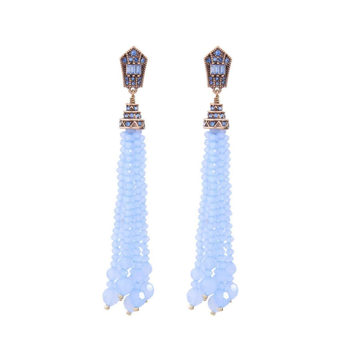 ear studs long banquet dresses. ball earrings|clip on earrings|ear cuffs|dangle earrings|earring jackets|hoop earrings|stud earrings|Tassels retro crystal beads personality earrings