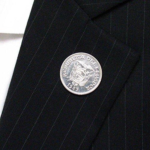 Ecuador Coin Tie Tack Lapel Pin Suit Flag Bandera corbata escudo joya Quito Guayaquil LDS Missionary
