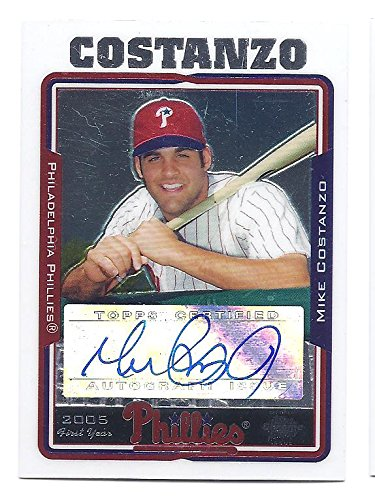 MIKE COSTANZO 2005 Topps Chrome Update #UH225 AUTOGRAPH Rookie Card RC Philadelphia Phillies Baseball