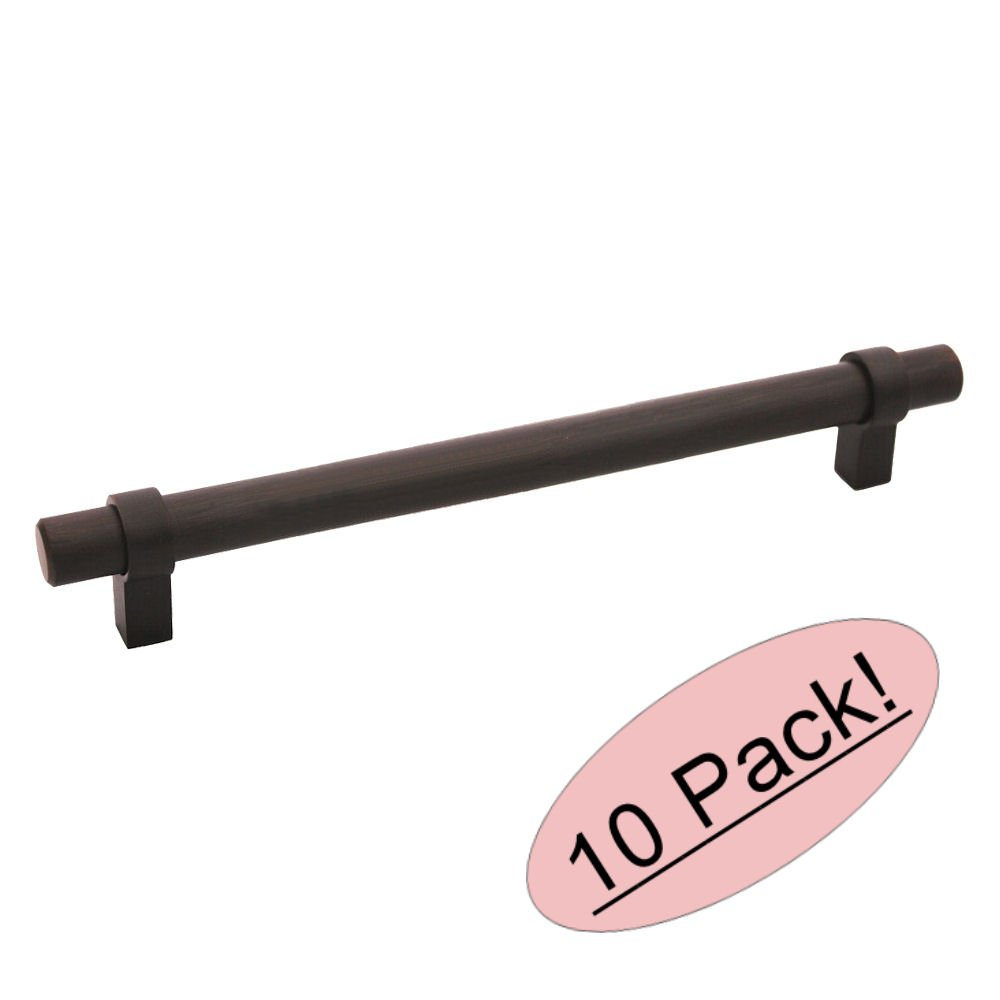 10 Pack - Cosmas 161-224ORB Oil Rubbed Bronze Cabinet Bar Handle Pull - 8-7/8'' (224mm) Hole Centers
