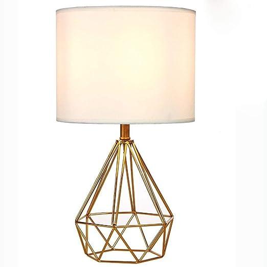 Lámpara de mesa de jaula moderna Lámpara de mesa de metal con ...