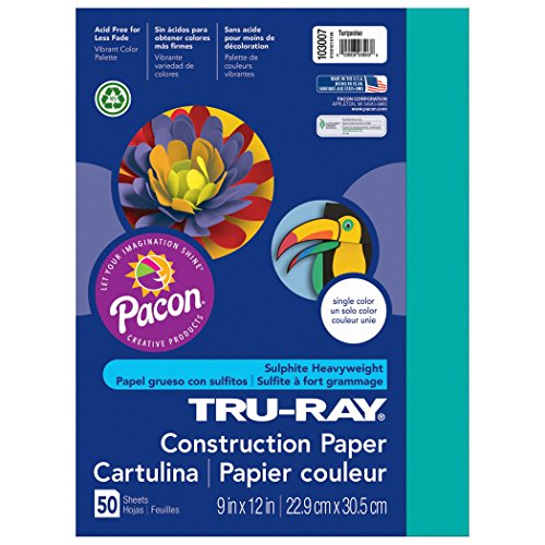 (Pacon Tru-Ray Construction Paper, Turquoise, 9