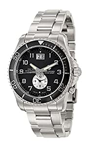 Victorinox Swiss Army Men's 241441 Maverick GS Dual Time Black Double Date Dial Watch