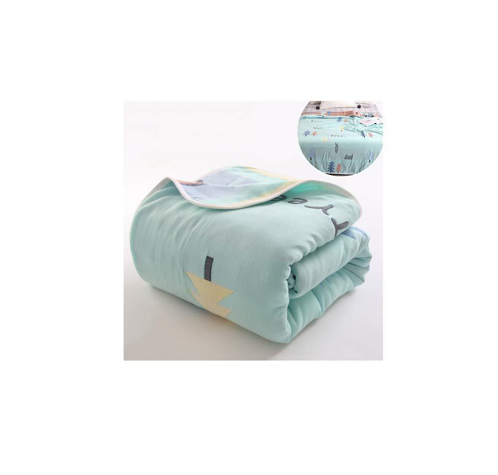 Yanshu Die Handtücher sind aus Baumwolle Einzel-Doppelgaze Sommer cool Baby Baby Nickerchen Klimaanlage Decke G 80cmX100cm