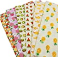 """6pcs/lot 15.7"""" x 19.7"""" Fruits Printed Cotton Fabric for Patchwork Sewing Tissu Handmade Needlework Material Telas"""
