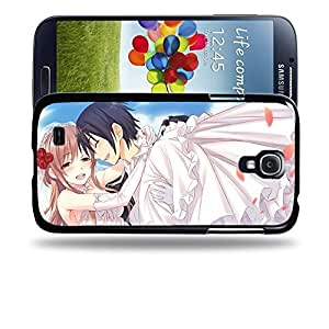 Case88 Designs Sword Art Online SAO Kirito & Asuna Protective Snap-on Hard Back Case Cover for Samsung Galaxy S4