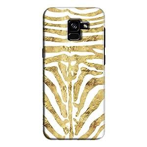 Cover It Up - Brown Zebra White Galaxy A8 2018 Hard Case