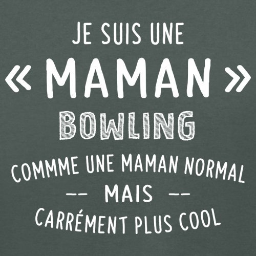 une maman normal bowling - Femme T-Shirt - Gris foncé - XL