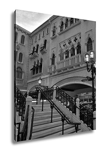 Ashley Canvas Venetian Resort Hotel, Kitchen Bedroom Living Room Art, Black/White 30x24, AG6424543