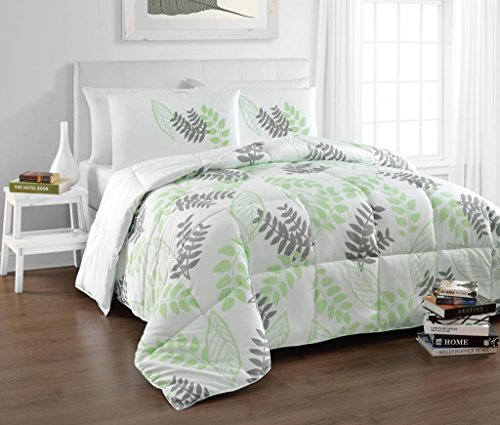 Cozy Beddings BH5022-K Tropical Reversible Down Alternati...