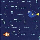 Disney Finding Dory-Camelot Design Studio 44/45'' Cotton D/R-Swimming - Navy