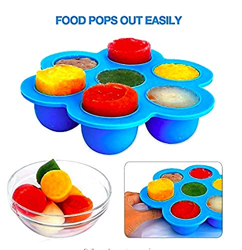 2-PACK Silicone Egg Bites Mold for Instant Pot Accessories 3 Quart, 5, 6 qt Pressure Cooker - BPA Free Molds for Fat Bombs, Sous Vide Egg Bite, Baby Food Freezer Trays 1oz portions Mini Molds by Mimapac (Image #7)