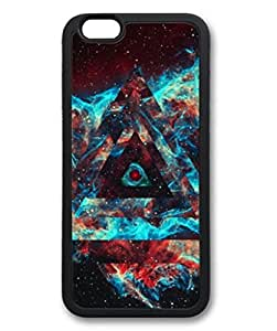 iPhone 6 Plus Case, iCustomonline Black Space Riders Shell Soft Back Case Cover Skin for iPhone 6 Plus 5.5 inch - Black